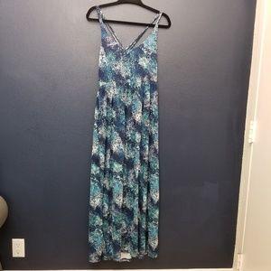 CYNTHIA ROWLEY Printed Maxi Dress L
